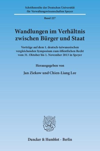 Cover: Wandlungen im Verhältnis zwischen Bürger und Staat