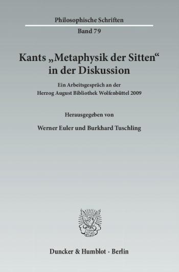 Cover: Kants »Metaphysik der Sitten« in der Diskussion