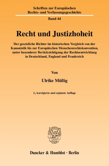 Cover: Recht und Justizhoheit