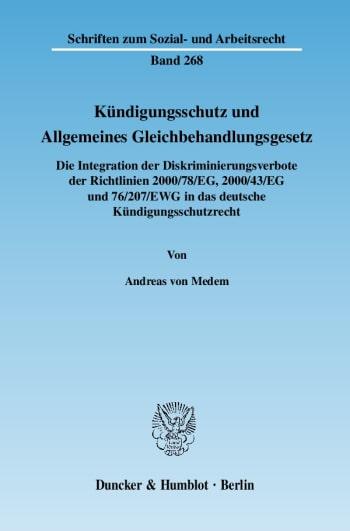 Cover: Kündigungsschutz und Allgemeines Gleichbehandlungsgesetz