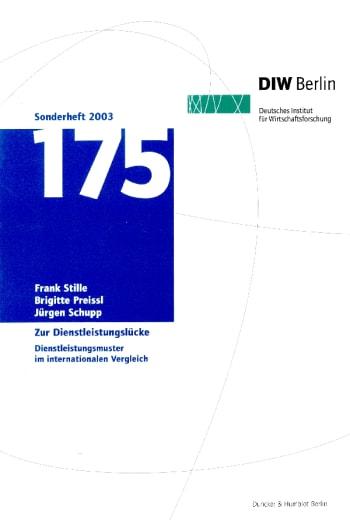 Cover: Zur Dienstleistungslücke