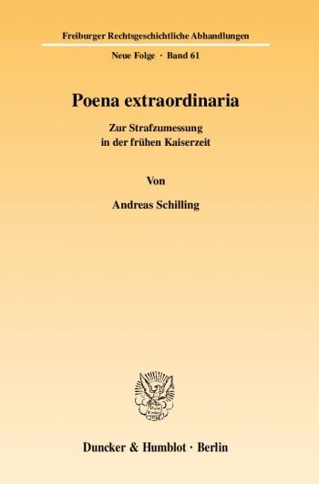 Cover: Poena extraordinaria