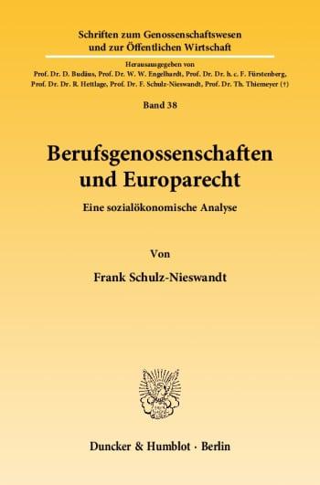 Cover: Berufsgenossenschaften und Europarecht