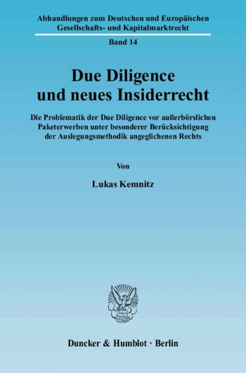 Cover: Due Diligence und neues Insiderrecht