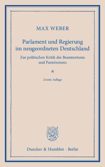 Cover: Parlament und Regierung im neugeordneten Deutschland