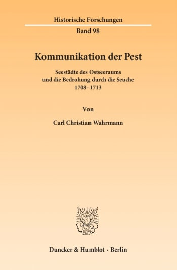 Cover: Kommunikation der Pest