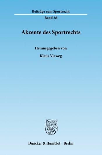 Cover: Akzente des Sportrechts