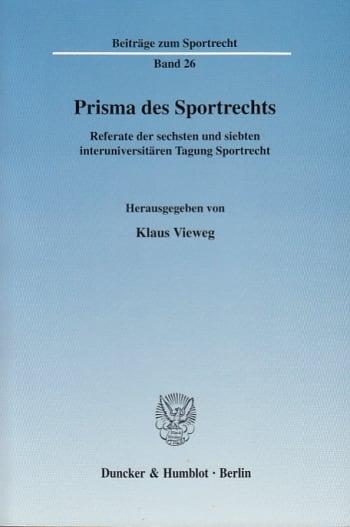 Cover: Prisma des Sportrechts