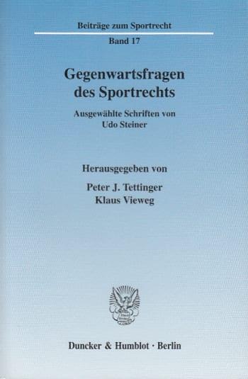 Cover: Gegenwartsfragen des Sportrechts