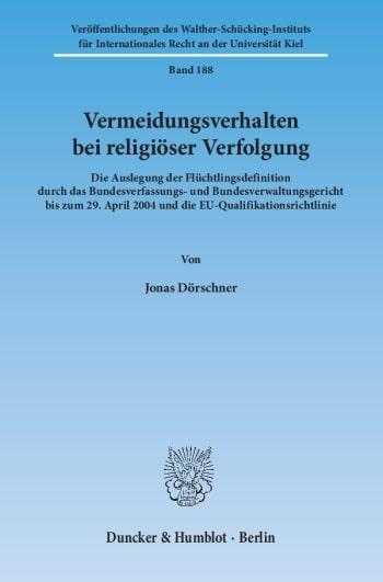 Cover: Vermeidungsverhalten bei religiöser Verfolgung