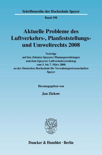 Cover: Aktuelle Probleme des Luftverkehrs-, Planfeststellungs- und Umweltrechts 2008