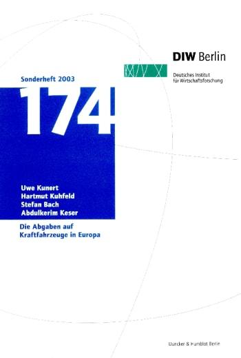 Cover: Die Abgaben auf Kraftfahrzeuge in Europa