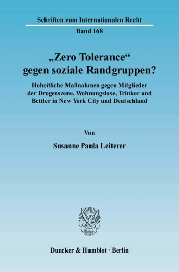 "Cover: ""Zero Tolerance"" gegen soziale Randgruppen?"