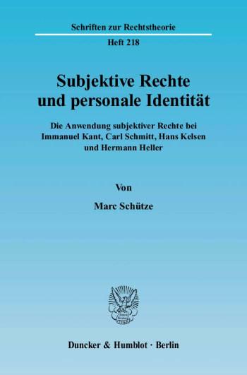 Cover: Subjektive Rechte und personale Identität