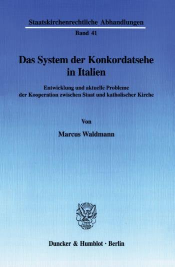 Cover: Das System der Konkordatsehe in Italien