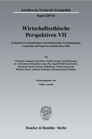 Cover: Wirtschaftsethische Perspektiven VII
