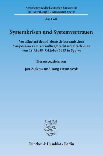 Cover: Systemkrisen und Systemvertrauen