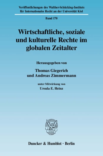 Cover: Wirtschaftliche, soziale und kulturelle Rechte im globalen Zeitalter