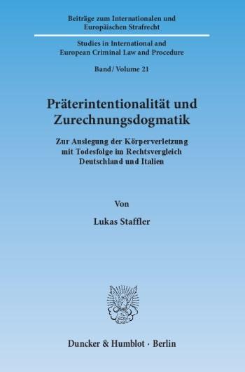Cover: Präterintentionalität und Zurechnungsdogmatik