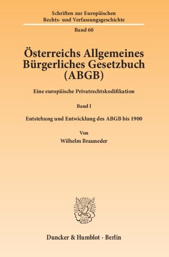 Cover: Österreichs Allgemeines Bürgerliches Gesetzbuch (ABGB)