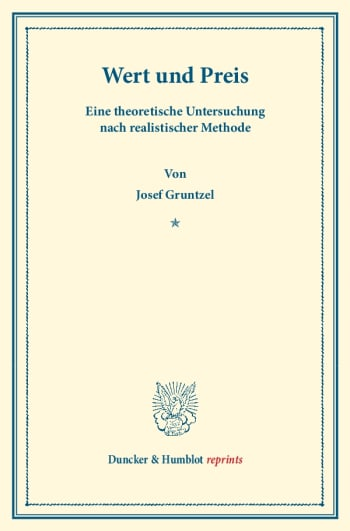 Cover: Wert und Preis