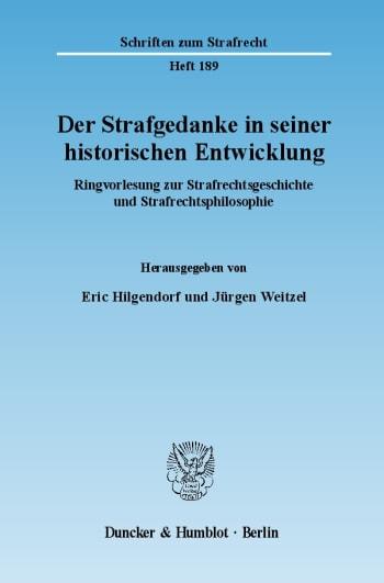 Cover: Der Strafgedanke in seiner historischen Entwicklung