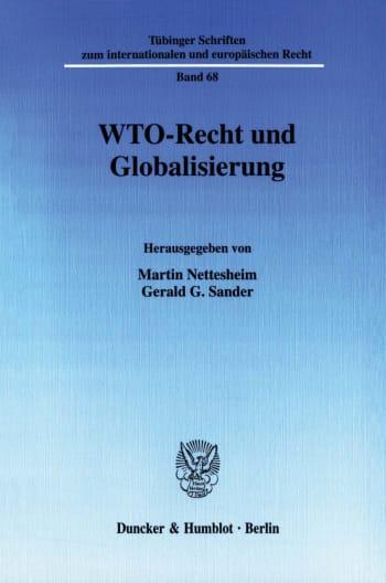 Cover: WTO-Recht und Globalisierung