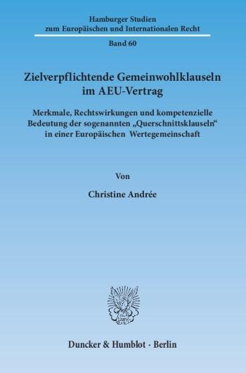 Cover: Hamburger Studien zum Europäischen und Internationalen Recht (HEIR)