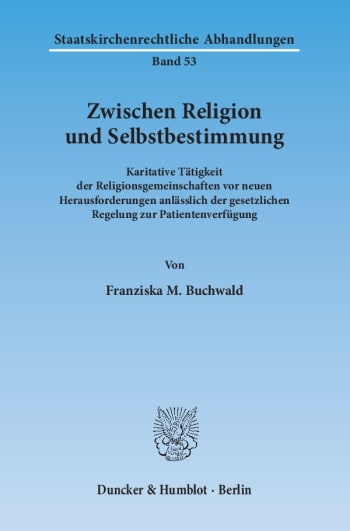 Cover: Zwischen Religion und Selbstbestimmung