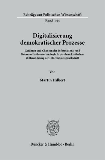 Cover: Digitalisierung demokratischer Prozesse
