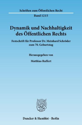 Cover: Dynamik und Nachhaltigkeit des Öffentlichen Rechts