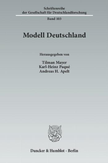 Cover: Modell Deutschland