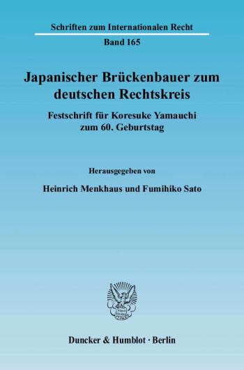 Cover: Japanischer Brückenbauer zum deutschen Rechtskreis