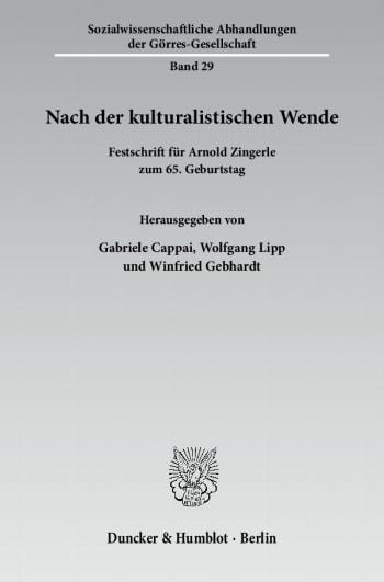 Cover: Nach der kulturalistischen Wende
