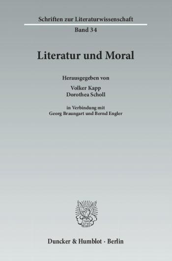 Cover: Literatur und Moral