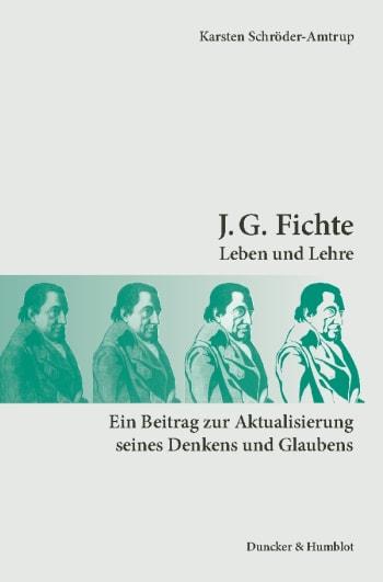 Cover: J. G. Fichte
