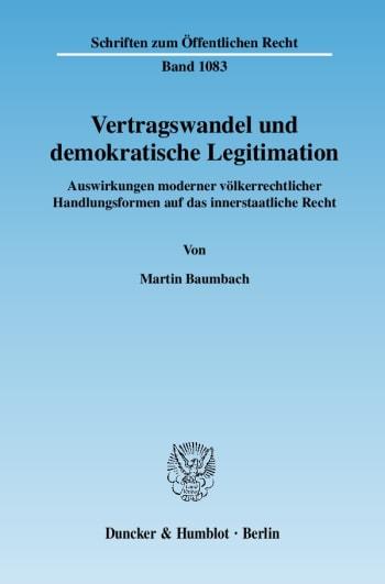 Cover: Vertragswandel und demokratische Legitimation