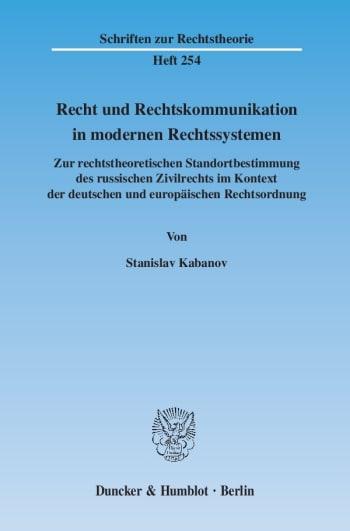 Cover: Recht und Rechtskommunikation in modernen Rechtssystemen