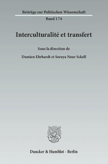 Cover: Interculturalité et transfert