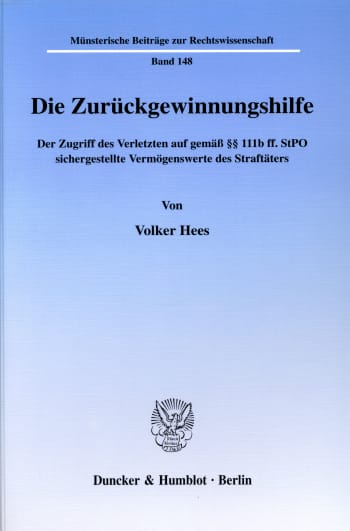Cover: Die Zurückgewinnungshilfe