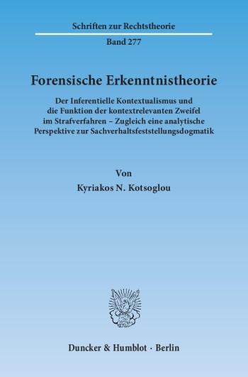 Cover: Forensische Erkenntnistheorie