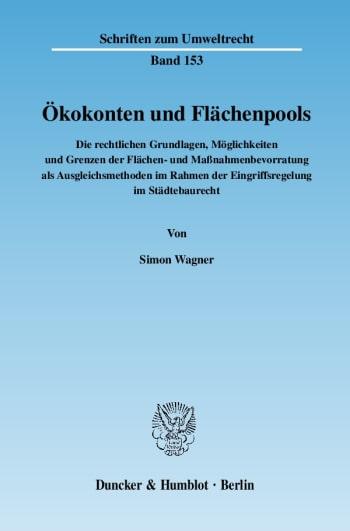 Cover: Ökokonten und Flächenpools