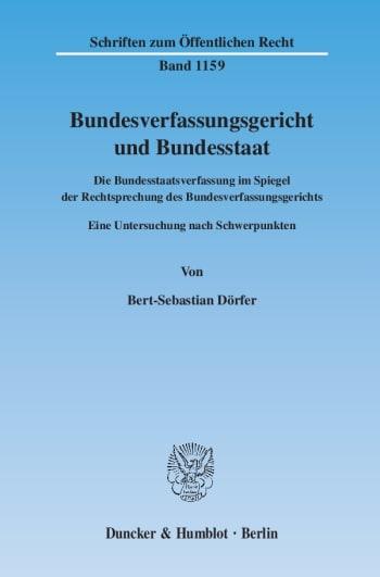 Cover: Bundesverfassungsgericht und Bundesstaat