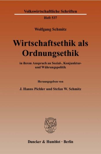 Cover: Wirtschaftsethik als Ordnungsethik