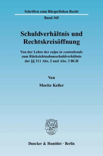 Cover: Schuldverhältnis und Rechtskreisöffnung