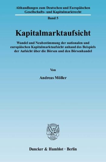 Cover: Kapitalmarktaufsicht