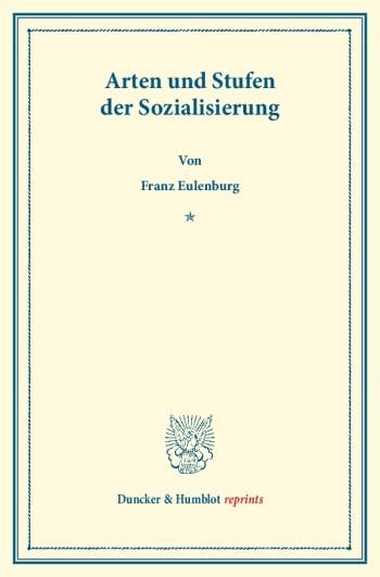 Cover: Arten und Stufen der Sozialisierung