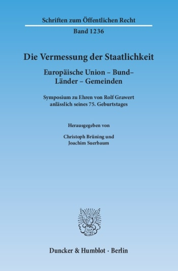 Cover: Die Vermessung der Staatlichkeit