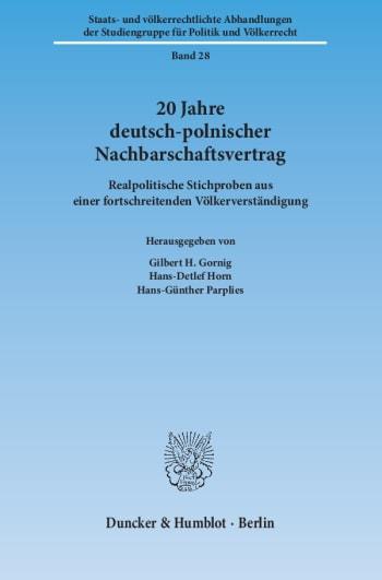 Cover: 20 Jahre deutsch-polnischer Nachbarschaftsvertrag