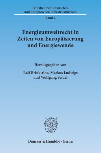 Cover: Energieumweltrecht in Zeiten von Europäisierung und Energiewende